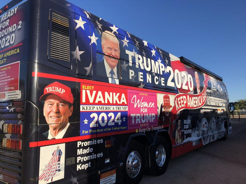 """Trump Train"" for sale in Queen Creek"