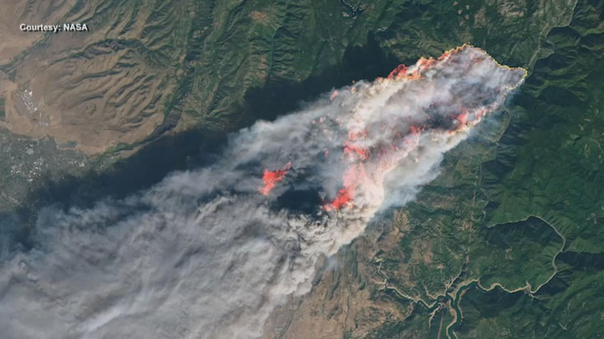 NASA track wildfires from space
