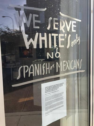 Racism Or Art Controversial Sign At Tempe Gallery Attracts
