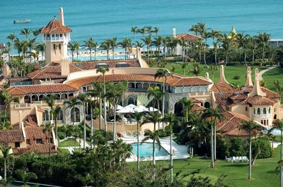 Aerial view of Mar-a-Lago, the oceanfront estate