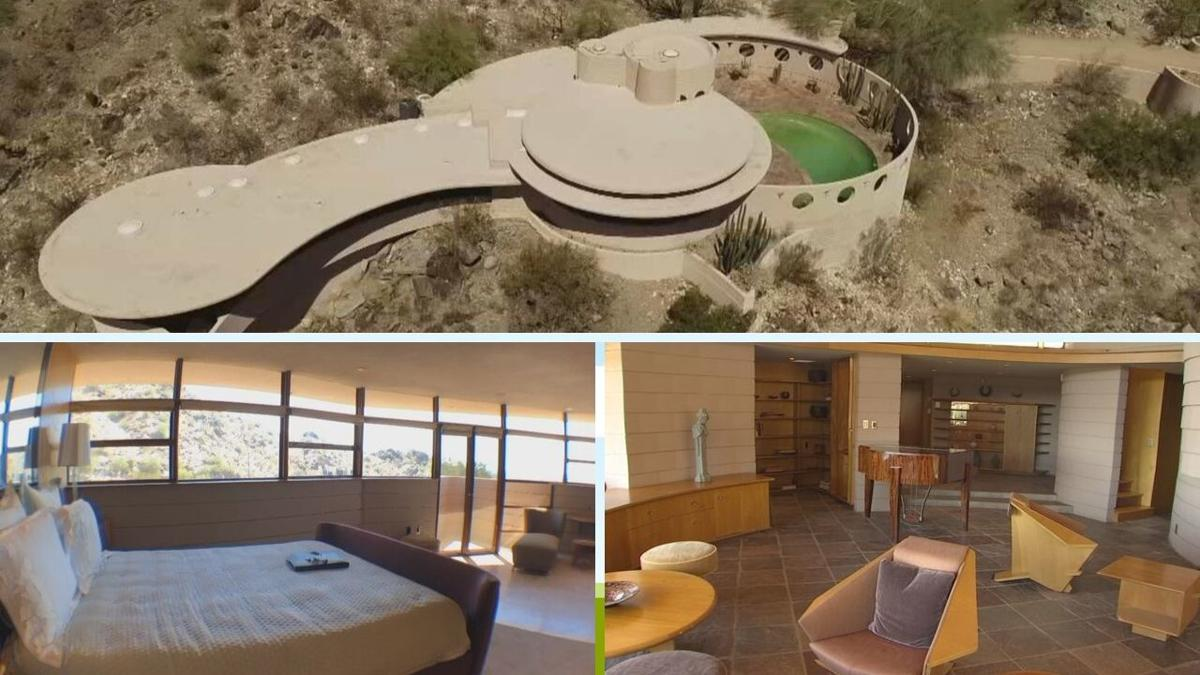 """The legendary Norman Lykes home, also known as the """"Circular Sun House."""""""