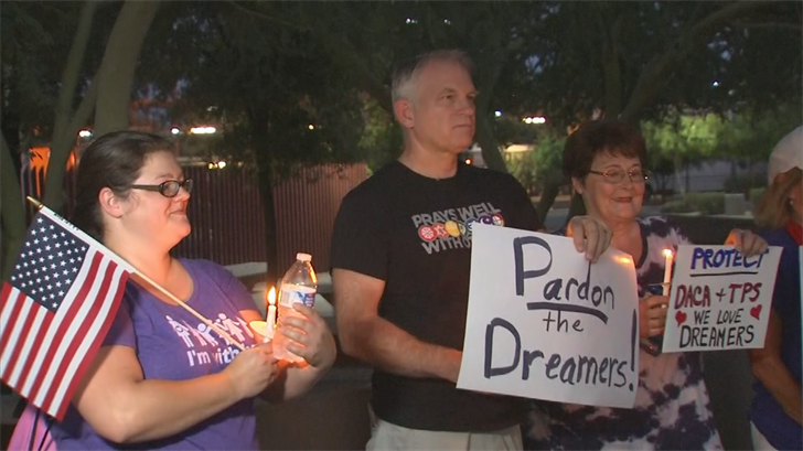 Faith leaders and Dreamers hold DACA vigil in Phoenix