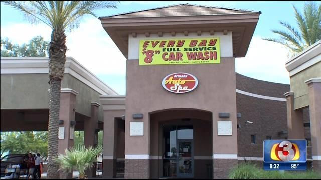 Car wash says it's not responsible for stolen vehicle