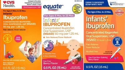 Recalled Infant Ibuprofen