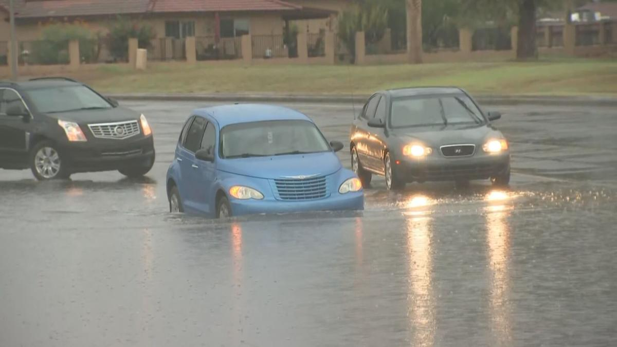 Flooding in Ahwatukee on July 14