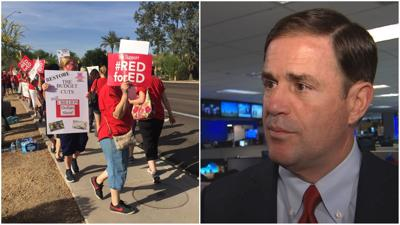 Gov. Ducey calls #RedForEd movement 'political theater,' says teachers should 'know the facts'