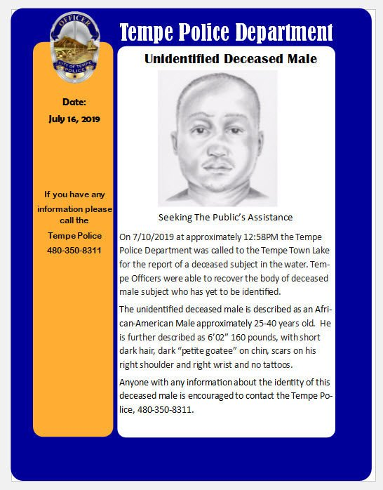 He is described as an African-American male, approximately 25 to 40 years old.