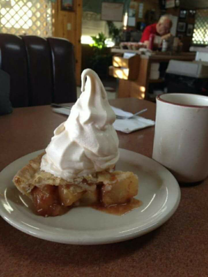 Pie at the Beeline Cafe