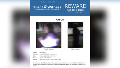 Phoenix police searching for suspects in 2018 arson