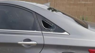 Arthur Keating used one of his tools to break the car's back window.