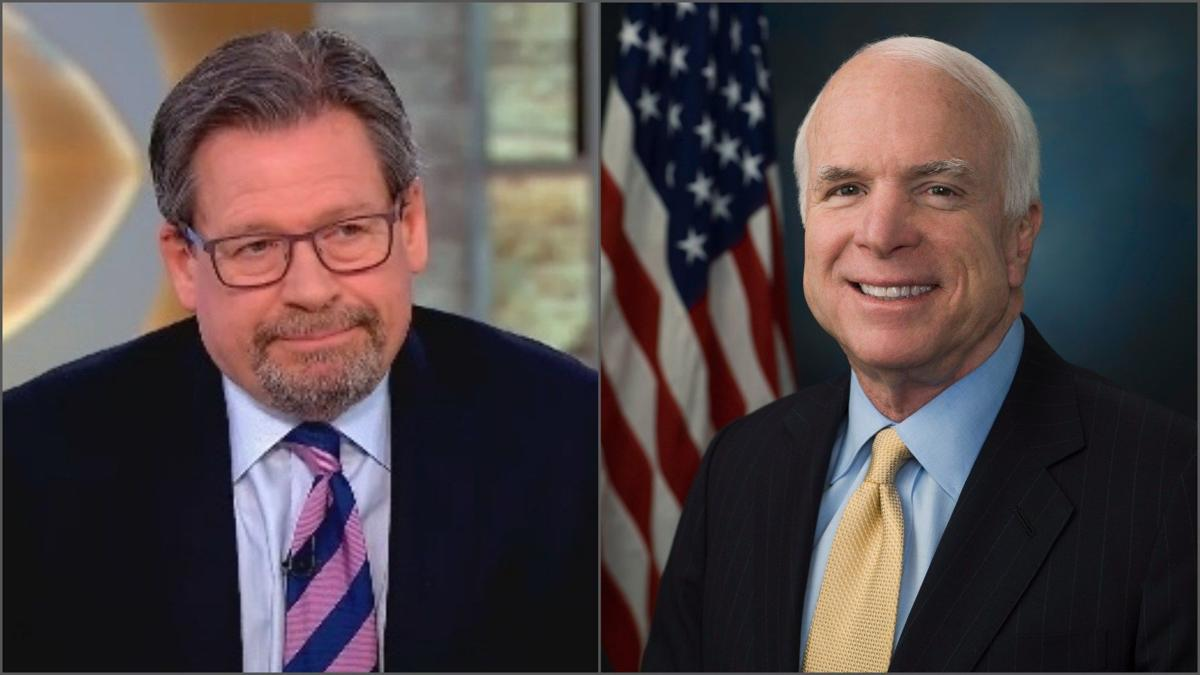 McCain 'cracking jokes' and working at 'getting strong,' says his co-author