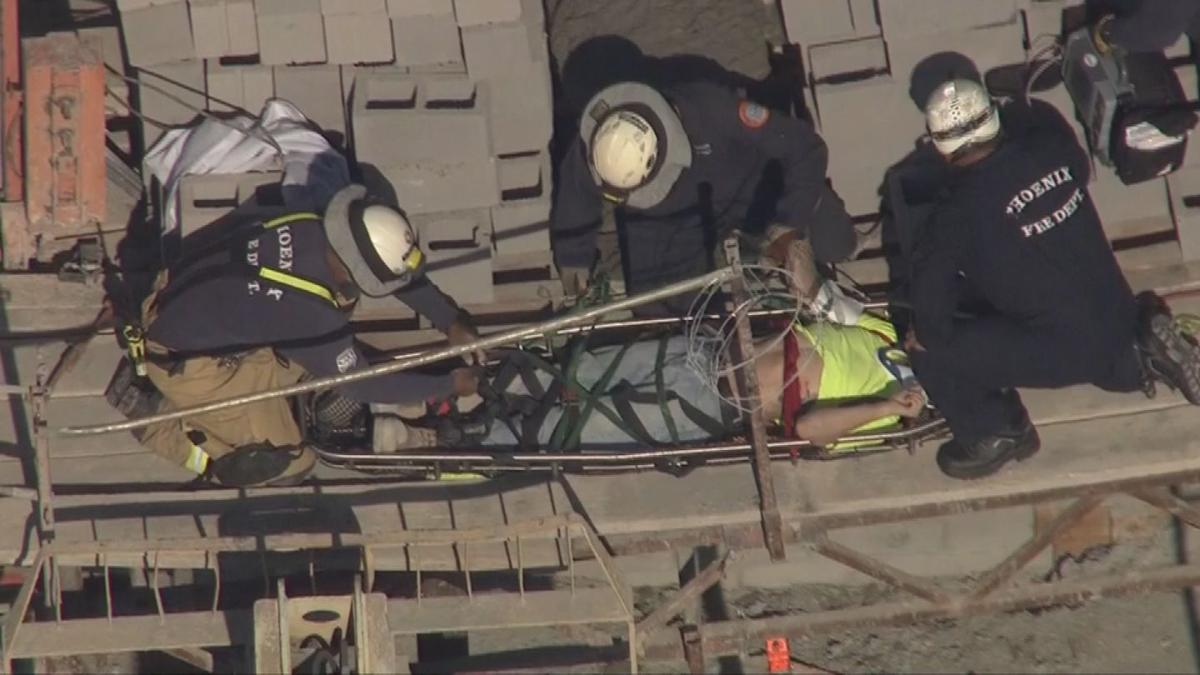 Worker at construction site rescued after partial wall collapse
