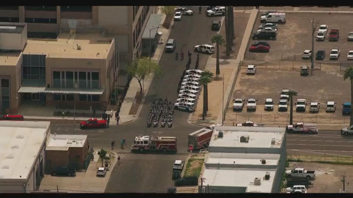 Procession for fallen Phoenix police Commander Greg Carnicle