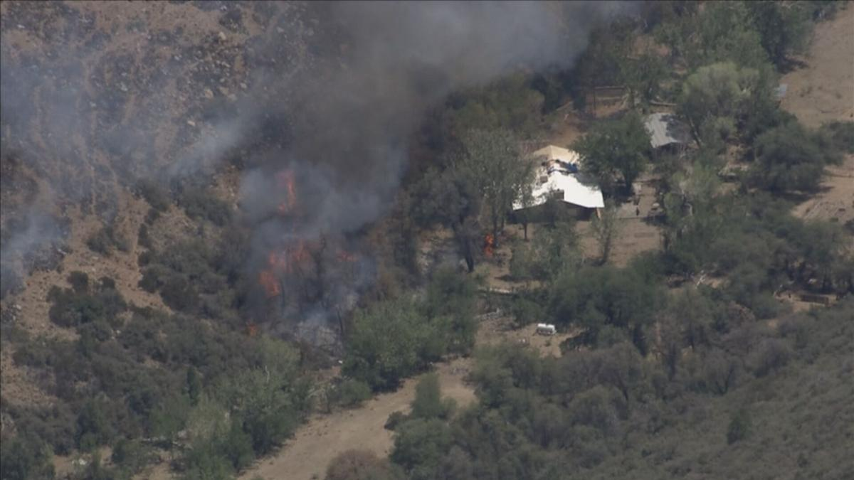 House close to flames in Telegraph Fire on Tuesday
