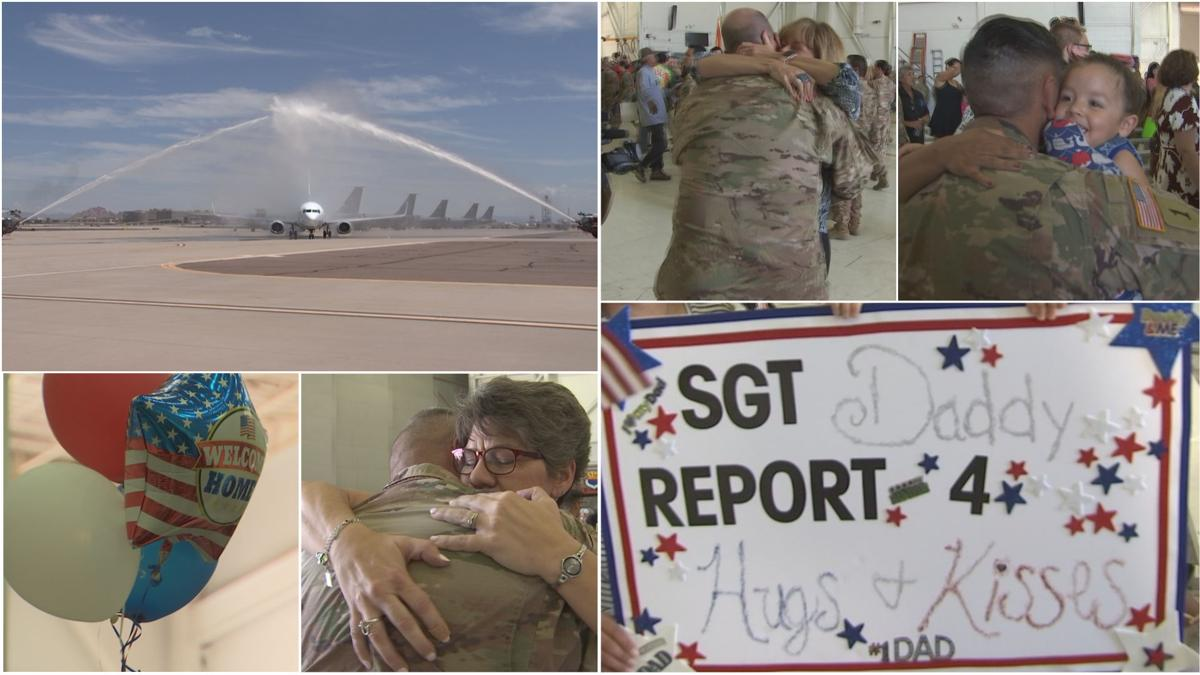Families welcome home Arizona citizen soldiers