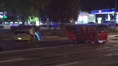 2 in critical condition, 2 others hurt after serious crash in west Phoenix
