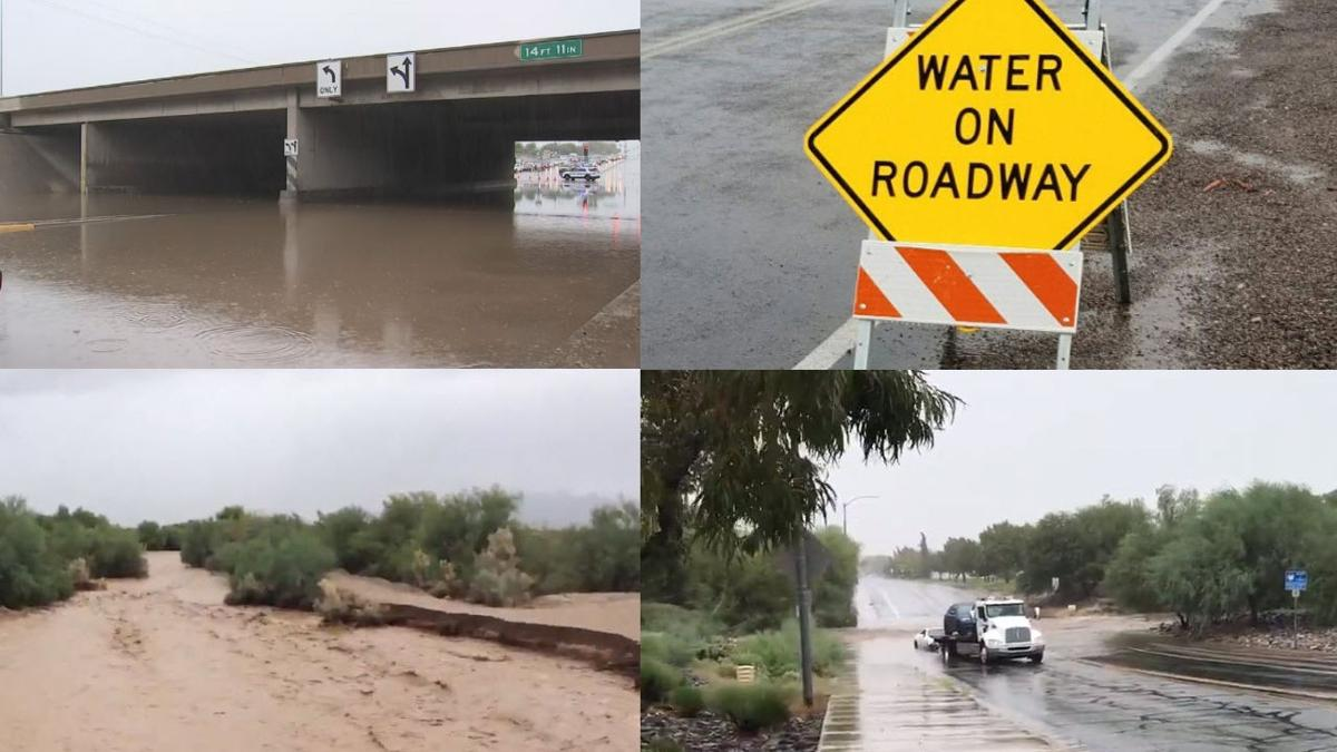 Remnants of Rosa causes dangerous road conditions