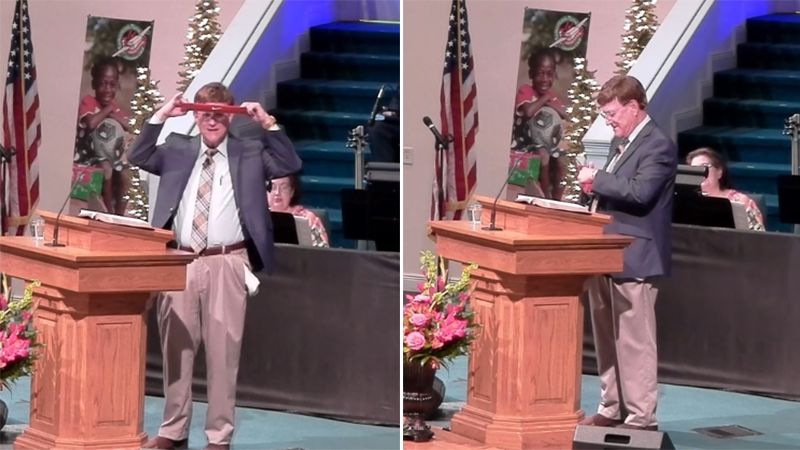 Alabama pastor cuts up Nike gear during sermon, gets standing ovation