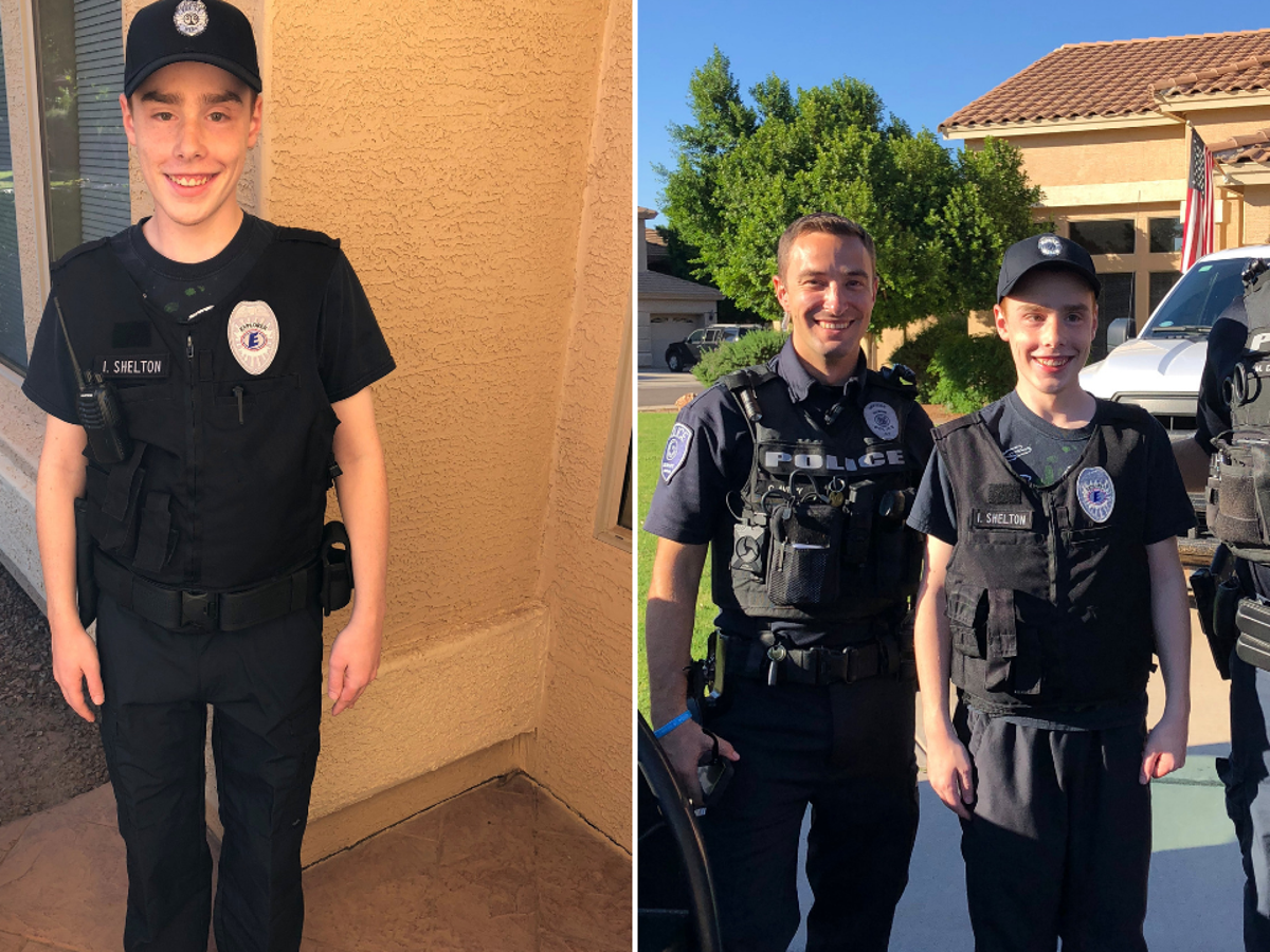 Gilbert Pd Surprises Autistic Teen With Police Uniform For