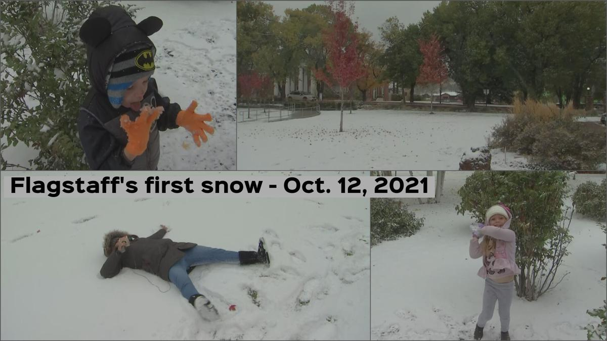 First snow of the season in Flagstaff