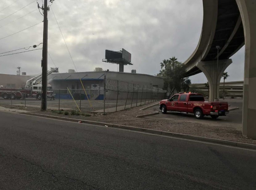 The fire broke out around 3 p.m. at a warehouse in an industrial area near 22nd Avenue and Thomas Road.