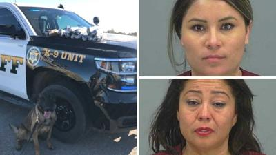 Two women arrested, 18 pounds of meth seized