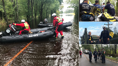 PHOTOS: Phoenix firefighters rescue dozens in North Carolina from Florence aftermath