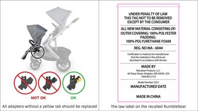 Recall: UPPAbaby adapters included with Rumbleseats