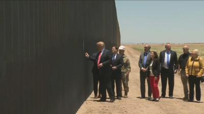 President Trump at the border