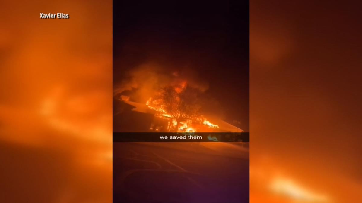 Elderly man, daughter saved from burning home in Phoenix