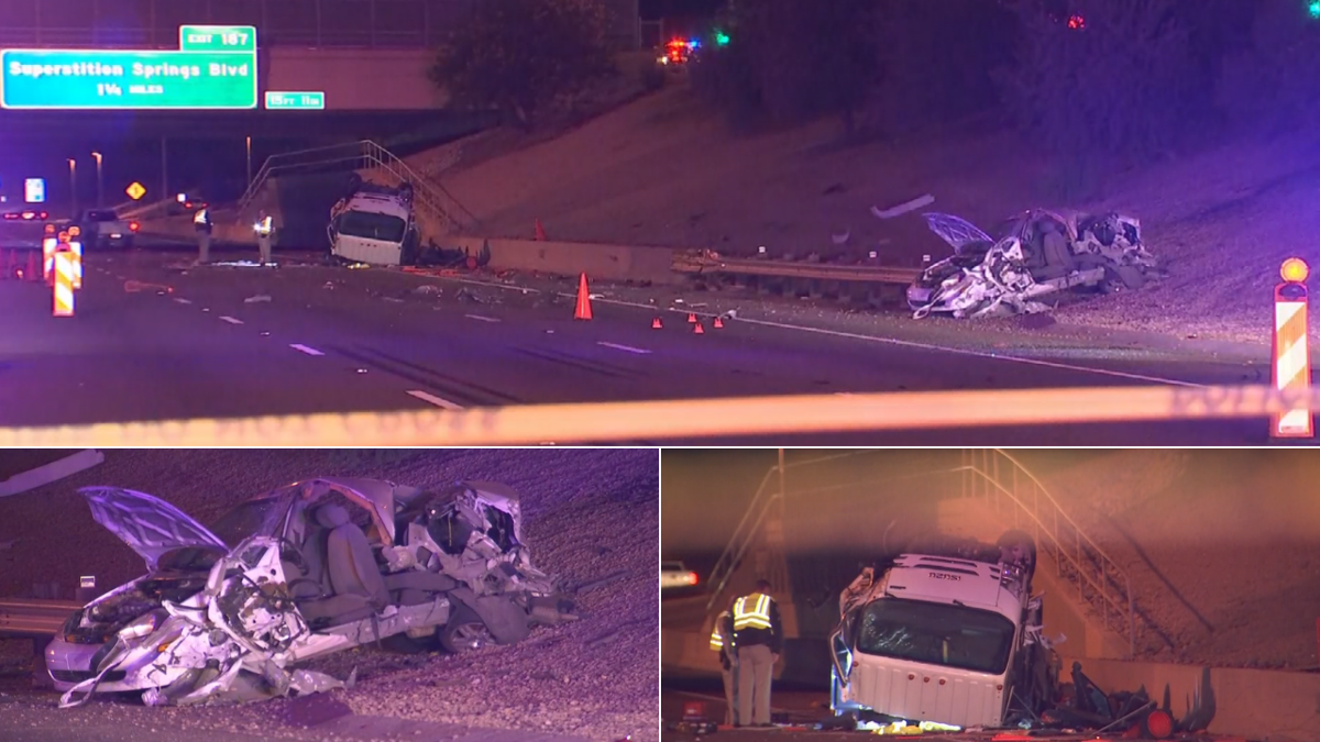 VIDEO: Hit-and-run crash closes U S  60 for morning commute in Mesa