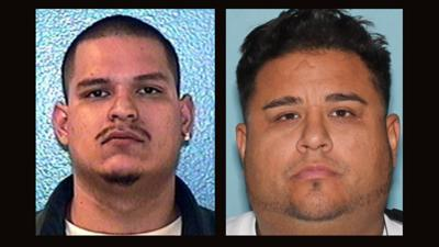 Driver Cesar Cervantes (LEFT) and passenger Jacob Gonzales (RIGHT)