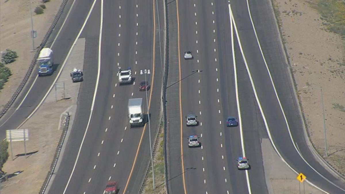 DPS chase with smart car in Phoenix-area