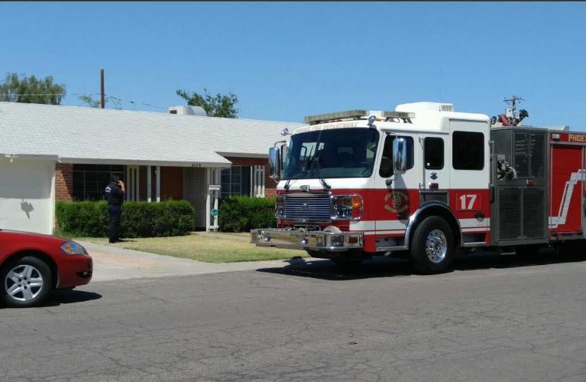 The baby girl was pulled from a toilet at a home near 24th Street just north of Indian School.