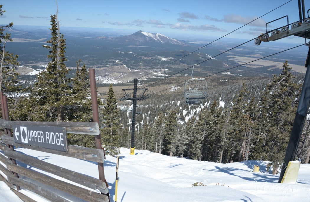 Arizona Snowbowl in Flagstaff received 4 inches of snow this week.