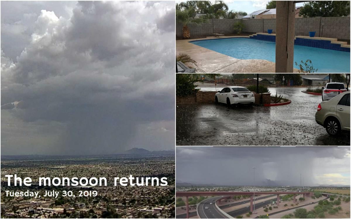The monsoon returns - Tuesday, July 30, 2019