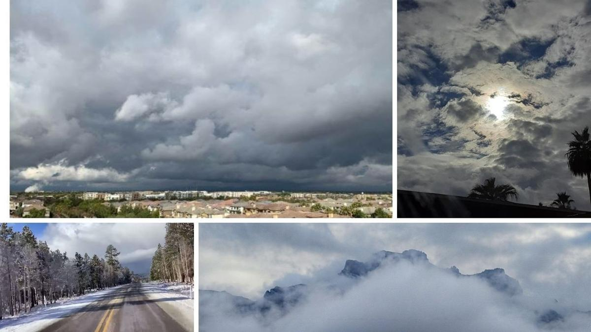 Incredible sights after an overnight storm brought rain and snow to our state