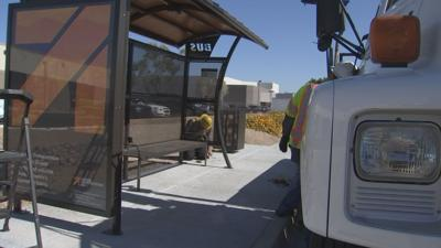 The Phoenix Public Transit Dept. is working to install newly re-designed bus shelters that provide about 30 percent more shade.