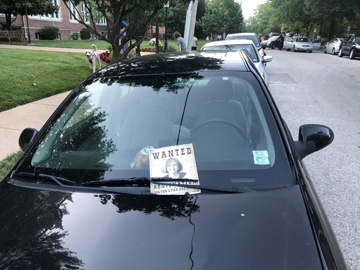 Flyers on cars in Mayor Lyda Krewson neighborhood.