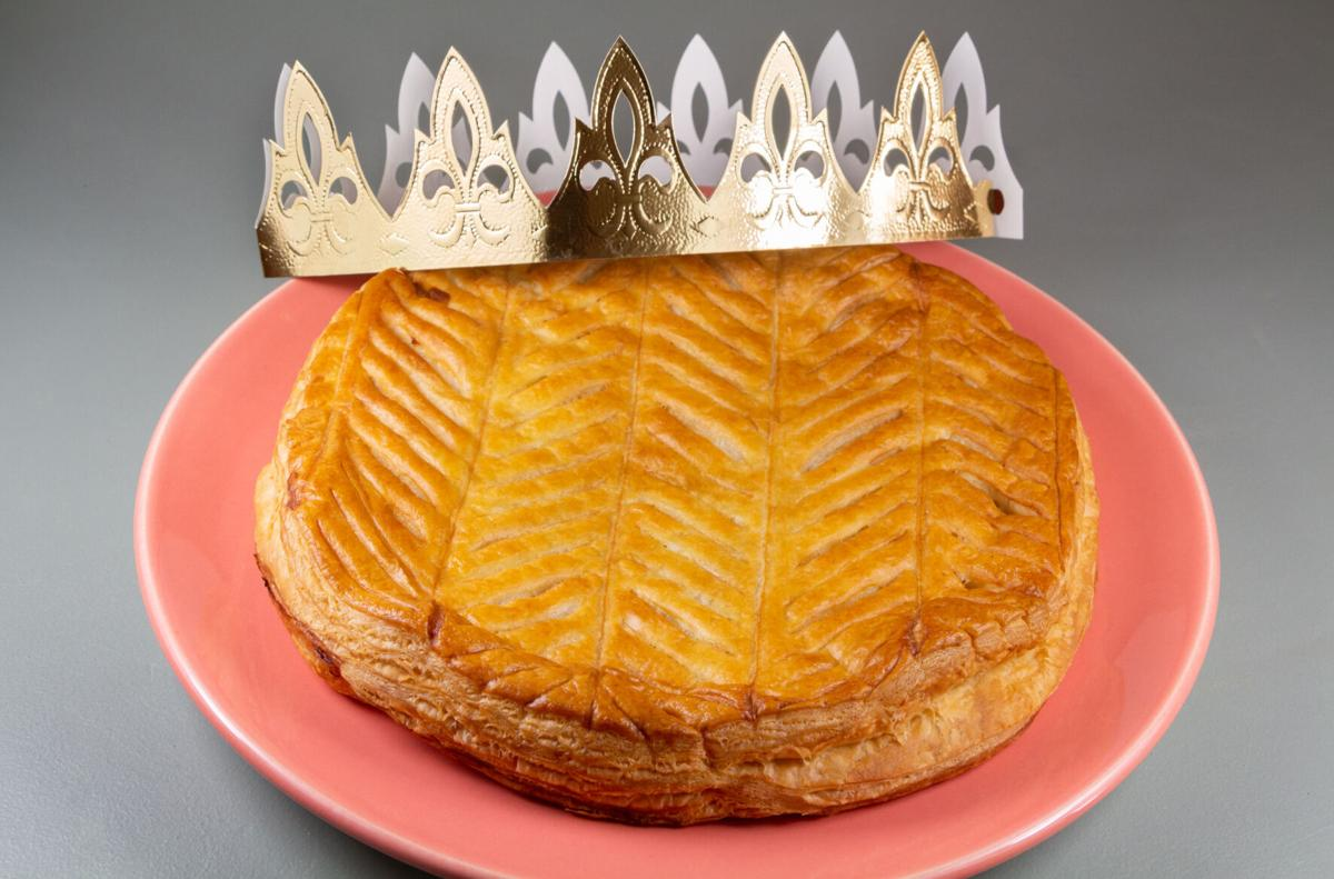 French king cake and crown