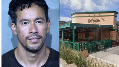 Michael Munoz (and Deander Miller, not pictured) were arrested following an armed robbery at the PV Mall Oregano's in Phoenix.