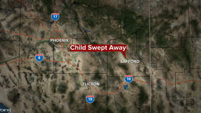 Crews searching for missing 4-year-old swept away in flash flood near Pima