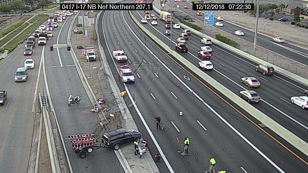 NB I-17 truck crash