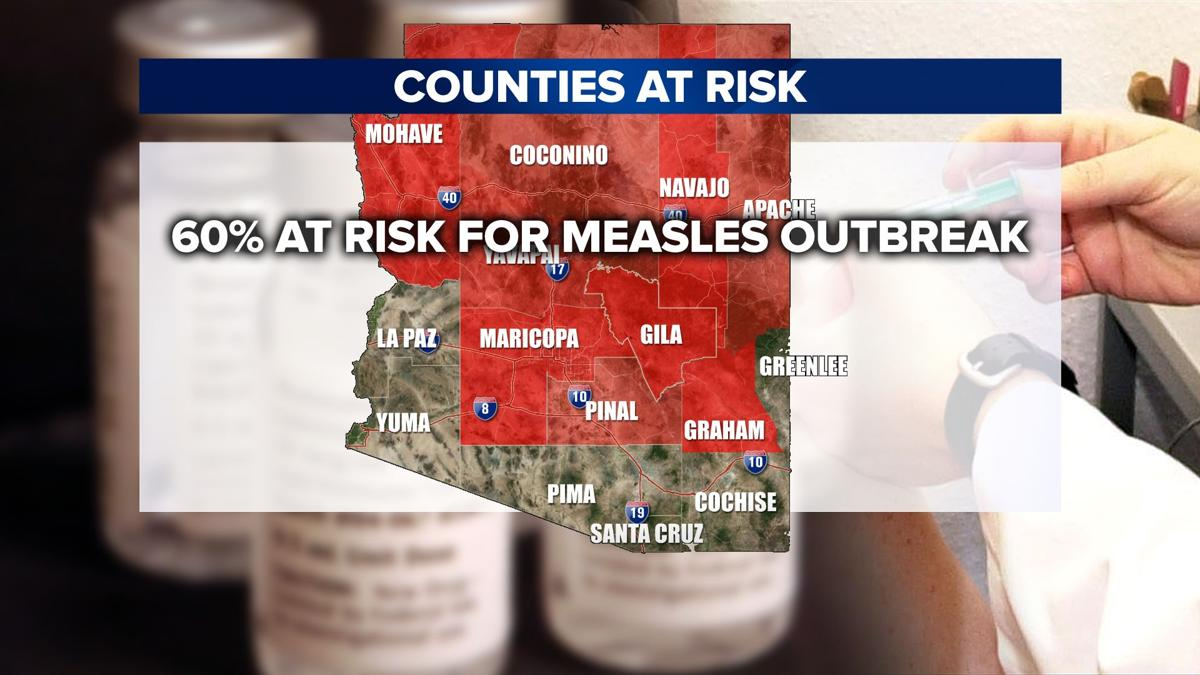 Arizona counties at risk for a measles outbreak
