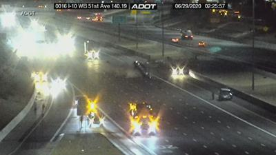 Rollover on I-10 at 51st Ave