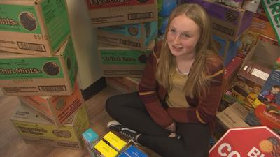 An 11-year-old Girl Scout from Parker, Arizona sold more boxes of cookies than the entire population of her hometown