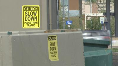 "The problem has gotten so bad that business owners at the Butte Business Center have put up ""slow down"" signs."