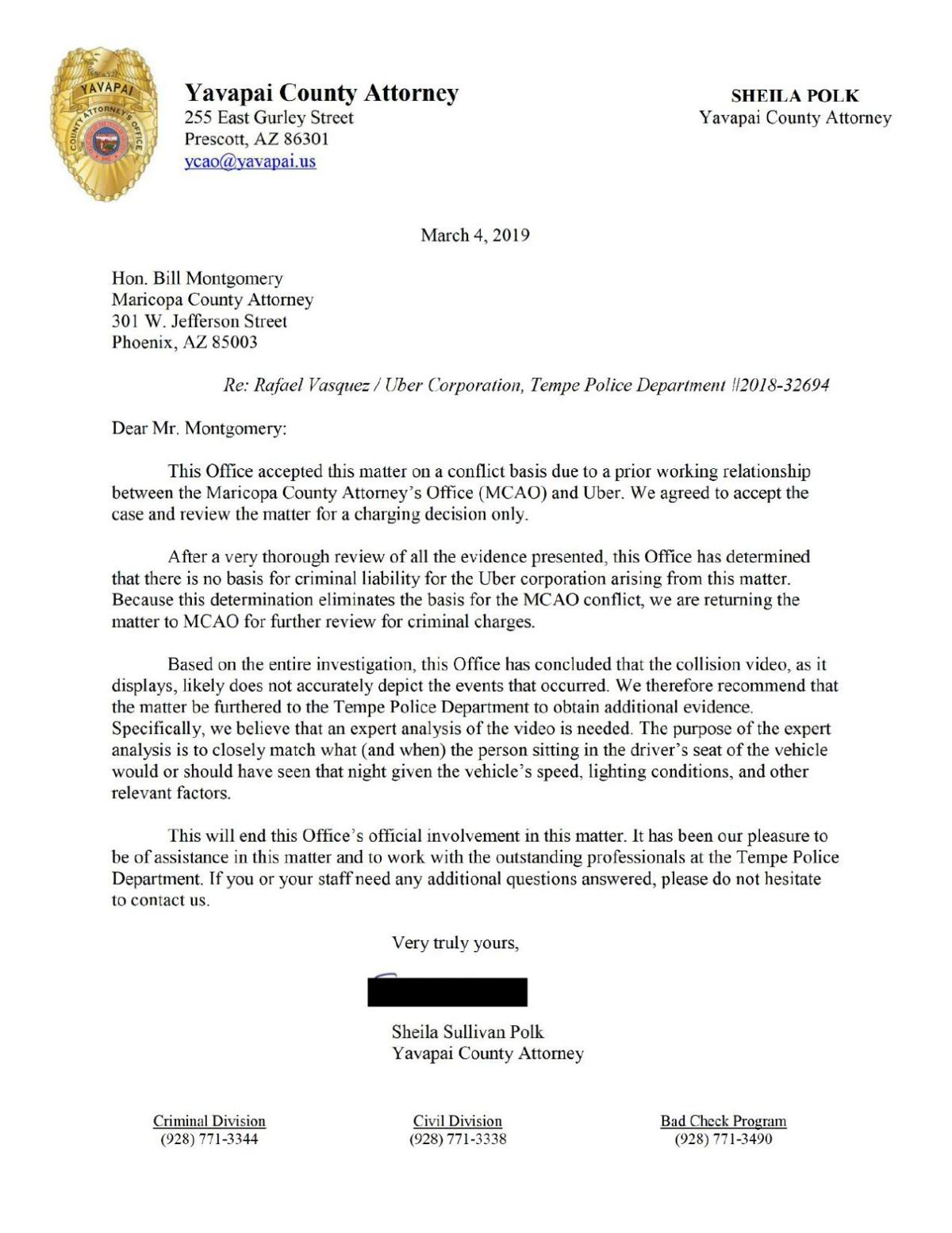 PDF: Yavapai County attorney's letter to Maricopa County attorney