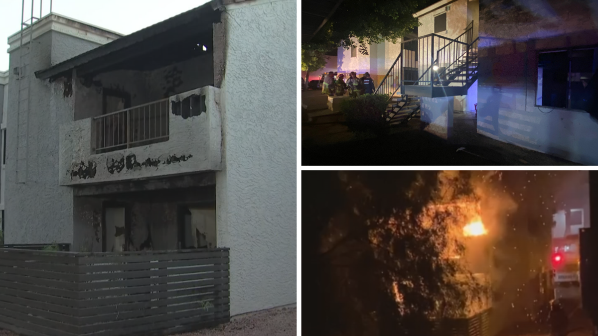 Multiple hospitalized after a fire at an apartment in Ahwatukee