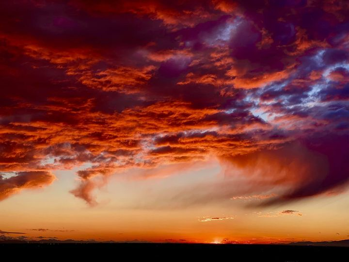 Friday sunset after fast-moving storm in Arizona